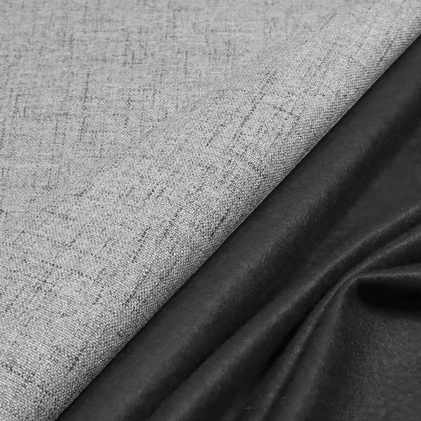 Polsterstoff / Möbelstoff grob gewebt & meliert - hellgrau/schwarz