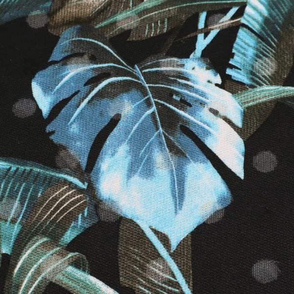 Sweatshirt Stoff Blätter & Ausbrenner - schwarz/türkis/petrol/marineblau (2.Wahl)