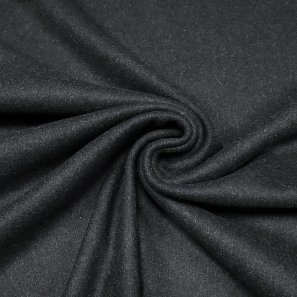 """Wollstoff-Mix """"Melange""""- schwarz/grau (Reststück - 5,6m)"""