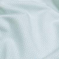 """Sweatshirt Stoff """"kleines Muster"""" - wollweiss/hellblau"""