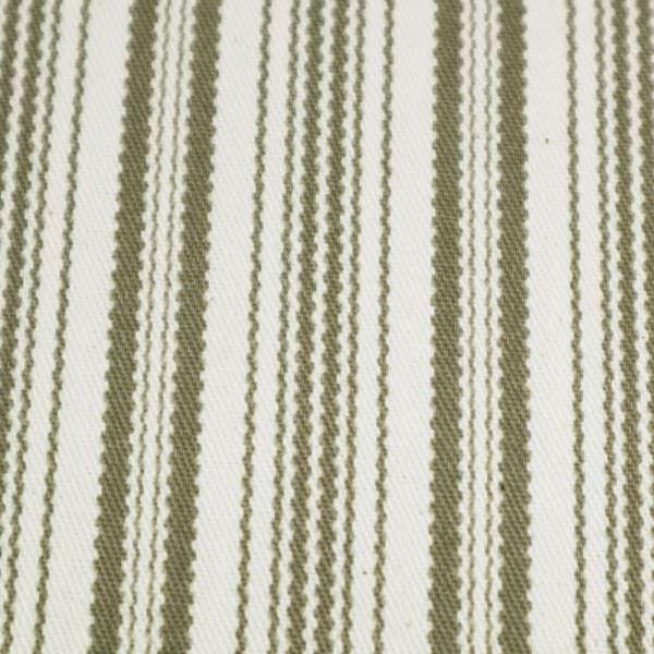 Baumwollköper mit Streifen - wollweiss/taupe (Reststück 4,7m)