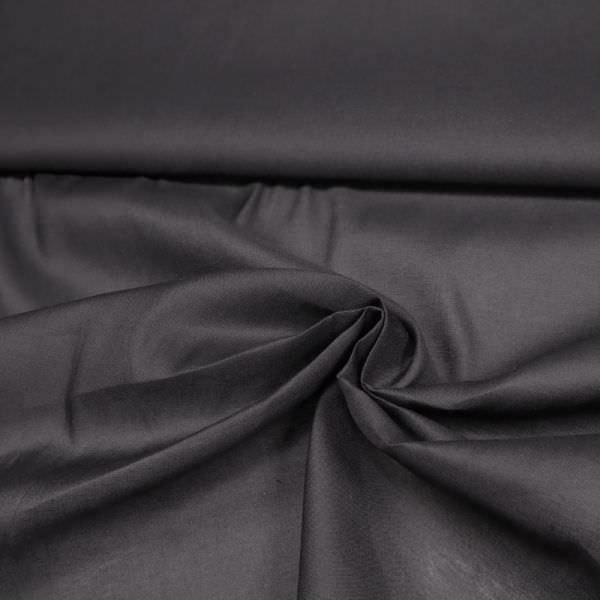 Baumwolle-Viskose-Mix uni - schwarz Nur 80cm/breit !