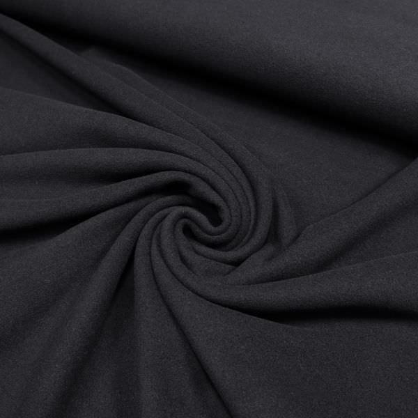 Mantelvelour uni - schwarz (Reststück - 3,2m)