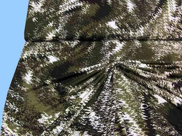 Feinjersey - wollweiss/dunkelgrün/schwarz