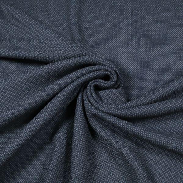 Wollstoff-Mix kleines Karomuster - schwarz/dunkelblau