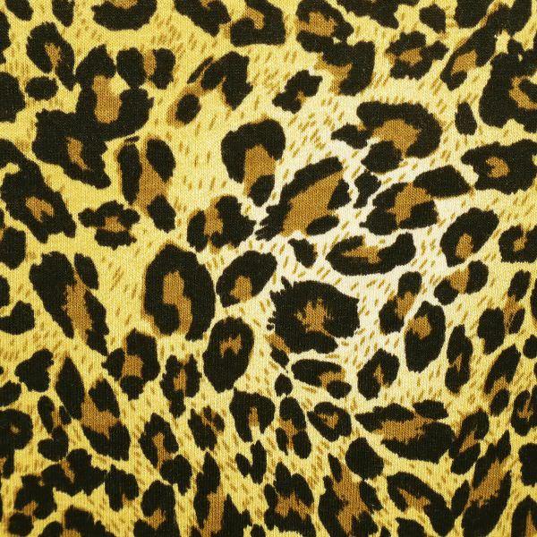 Viskosejersey mit Leoparden-Muster - gelb/braun/schwarz