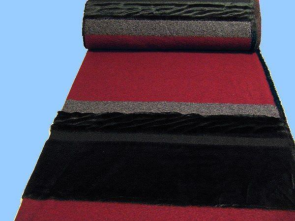 Strick mit Plüsch (Blockweise) - dunkelrot/grau/anthrazit/schwarz