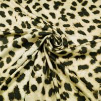 Viskosestoff mit Leopardenmuster - beige/braun/schwarz
