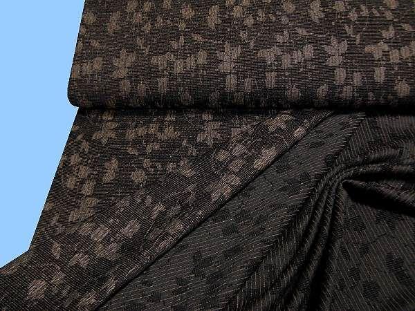 Chenille-Kostümstoff - braun/schwarz