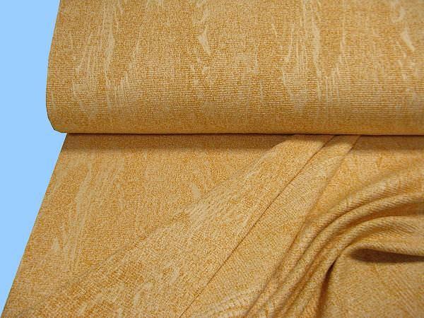 Chenille- Jackenstoff - goldgelb/wollweiss (Doppelgewebe)