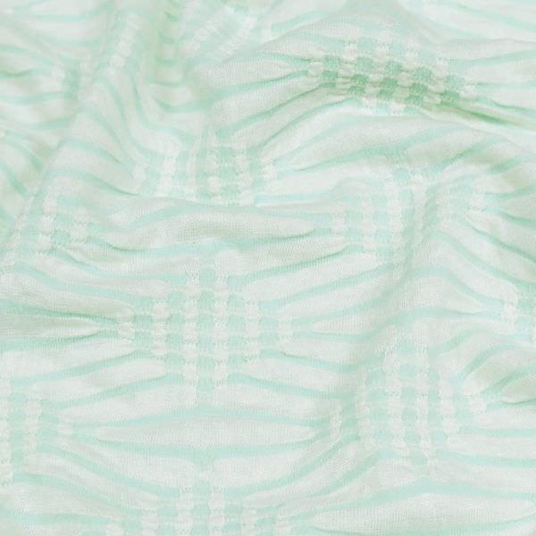 """Struktur Jersey """"geometrisches Muster"""" - wollweiss/mint"""