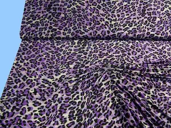 Microfaser- Jersey mit Leopardmuster - lila/flieder/aubergine