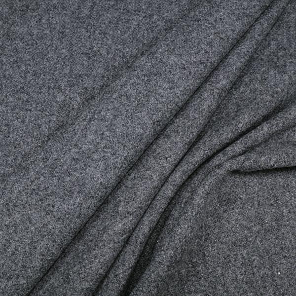 """Wollstoff """"Melange"""" mit Imprägnierung - grau/nachtblau"""