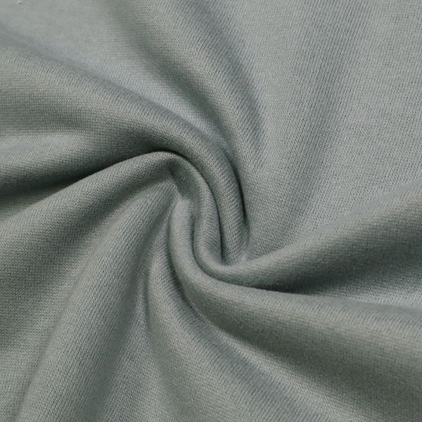 Sweatshirt Stoff mit angerauter Innenseite uni - taubenblau