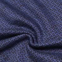 Baumwoll- Feinstrick gemustert - schwarz/royalblau