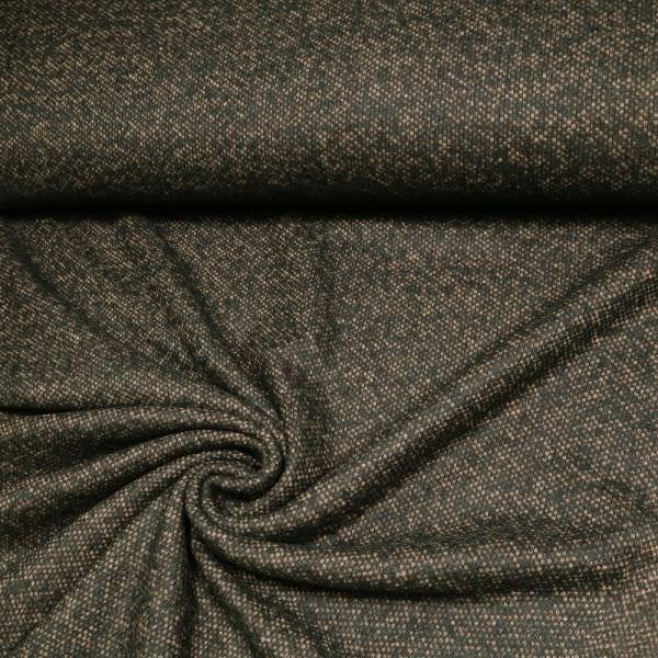 Wollstoff-Mix Bouclé Tweed Texture - schwarz/braun