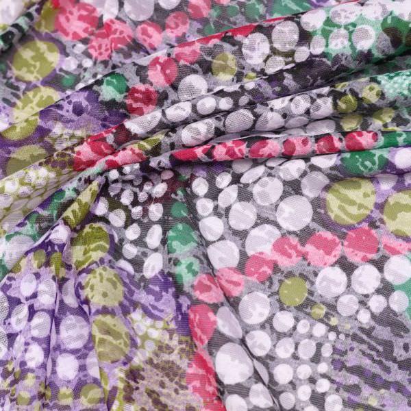 Ausbrenner Jersey African Print - schwarz/fuchsia/grün/lila/kiwi/weiss