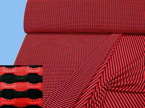Jersey - rot/schwarz