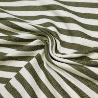 Sweatshirt Stoff Querstreifen - wollweiss/khaki