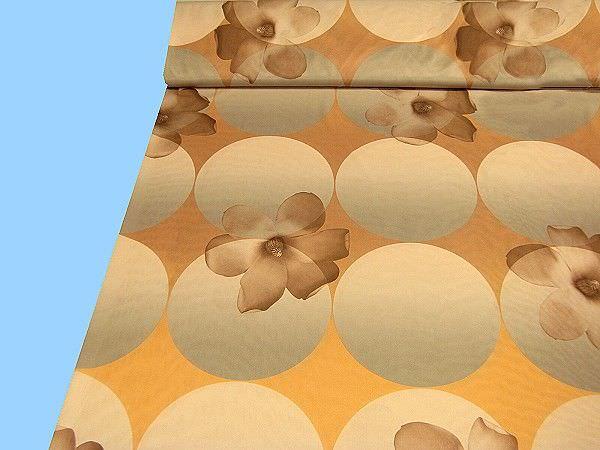 Seidenjersey - beige/goldgelb/khaki/braun