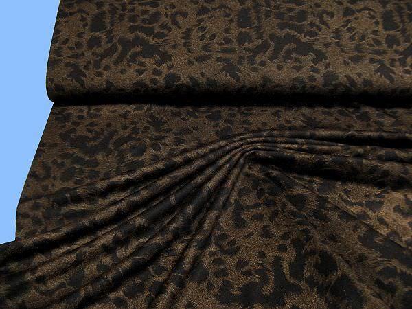 Jersey mit Leopardmuster (Powerstretch) - braun/gold