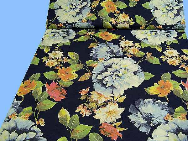 Feinjersey - dunkelblau/multicolor