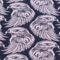 Jacquard Adler-Motiv & Lurex - flieder/dunkelblau/silber