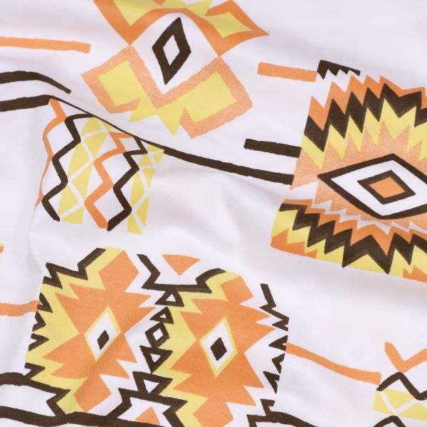 """Baumwollstoff """"Indianer Style""""- wollweiss/gelb/orange/braun"""