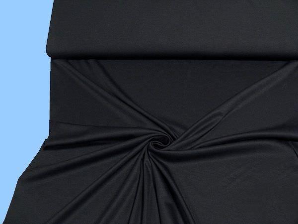 Baumwolljersey uni - schwarz