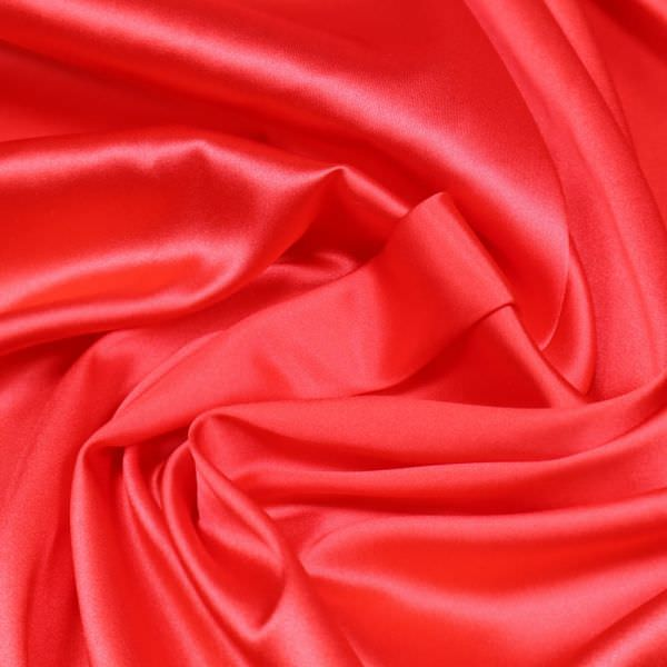 Seiden- Stretch Satin uni - rot