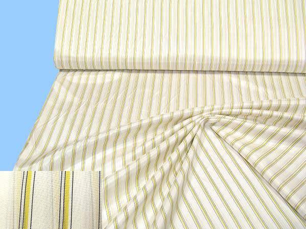 Futterstoff mit Streifen - weiss/gelb/schwarz (2.Wahl)
