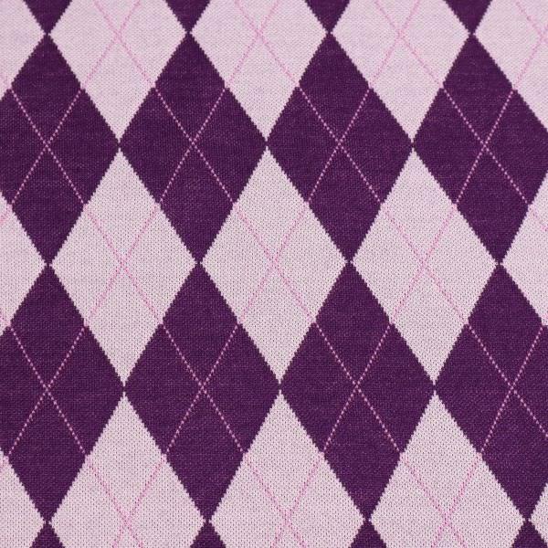 Feinstrick Rauten-Karo - flieder/lila/rosa