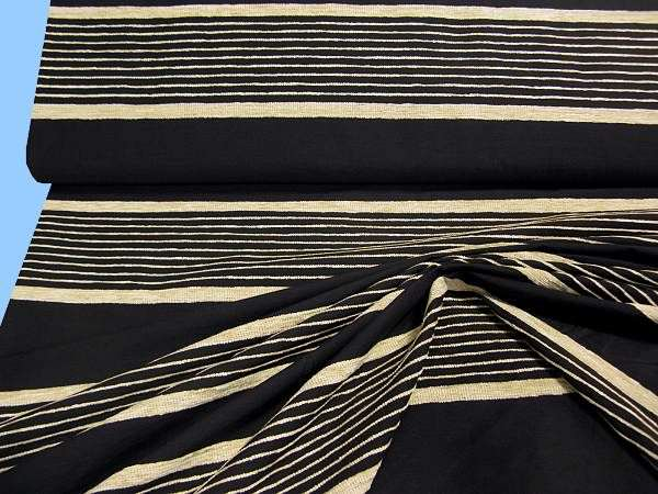 Kleiderstoff - schwarz/beige