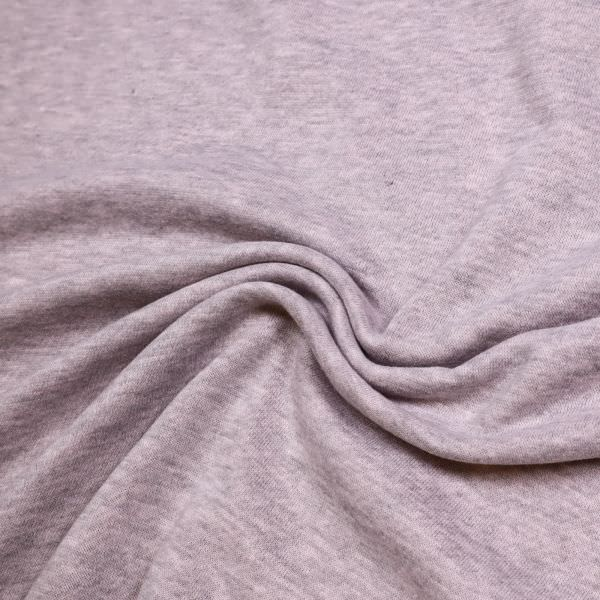 Sweatshirt Stoff Melange - rosé/grau Extra breit !