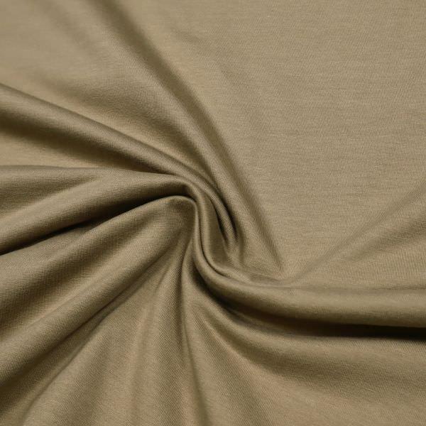 Stretch Sweatshirt Stoff mit angerauter Innenseite - hellbraun