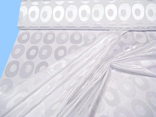 Jacquard mit eingewebtem Muster uni - weiss