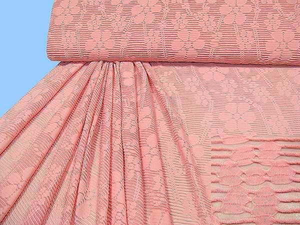 Jersey mit Blumen - rosé