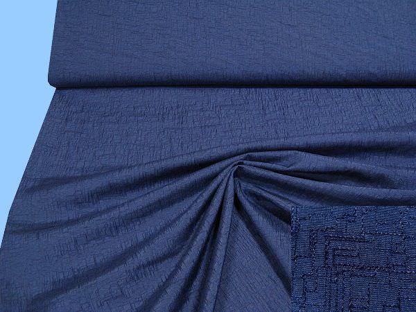 Jacken- und Kleiderstoff - dunkelblau