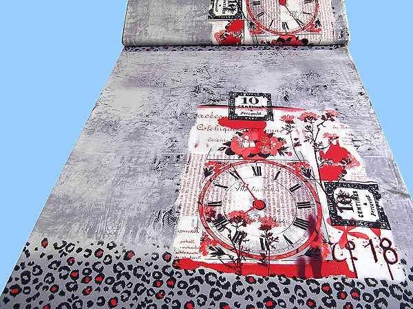 Viskosejersey mit großem Motiv - wollweiss/grau/rot/bordeaux/schwarz