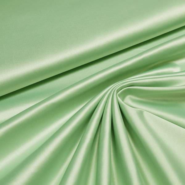 Baumwoll- Stretch Satin uni - mintgrün