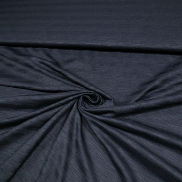 Baumwolljersey mit Querstreifen - nachtblau
