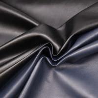 Doubleface Lederimitat uni - schwarz/dunkelblau